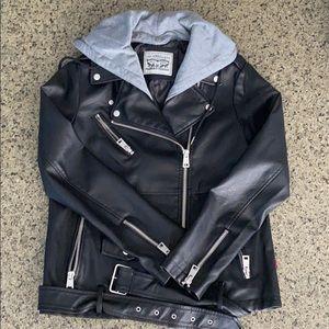 Levi's Faux Leather Oversized Motorcycle Jacket